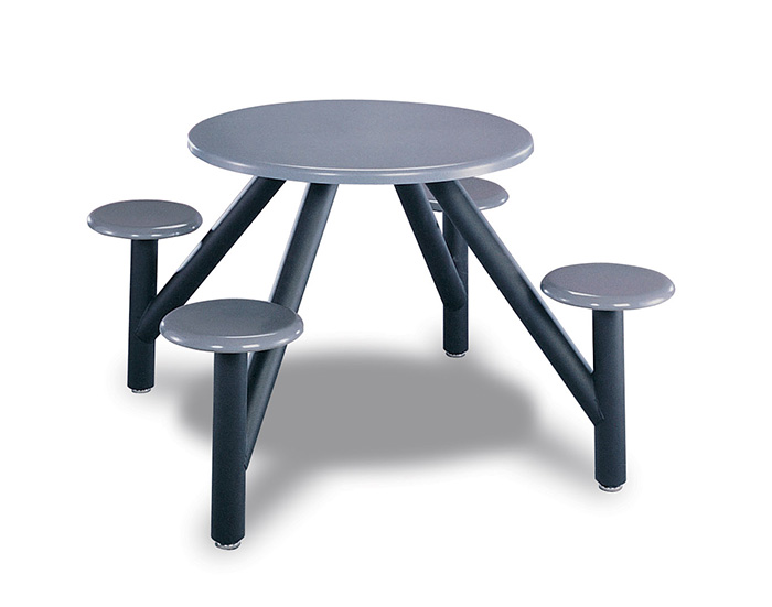 Table ronde et tabourets